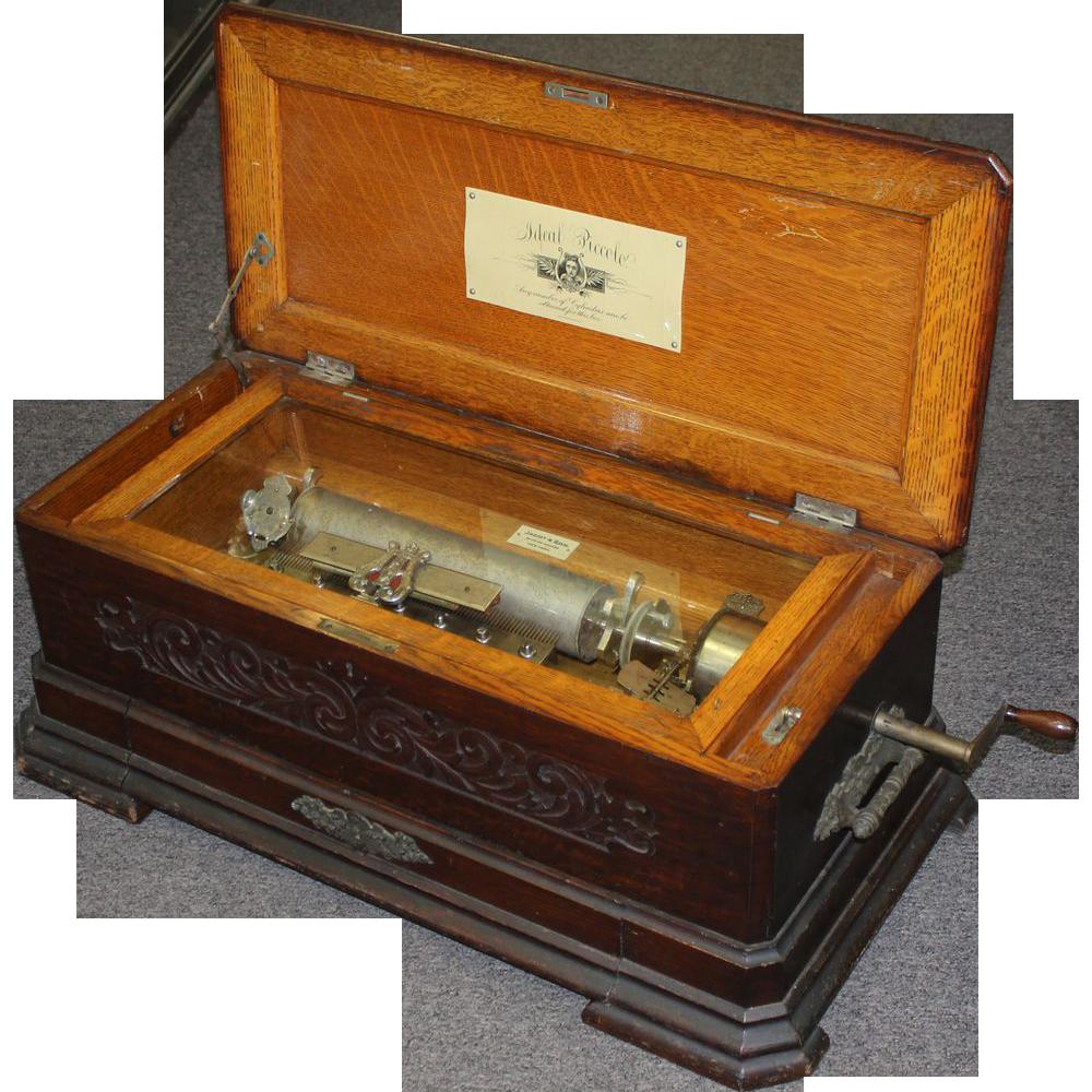 music cylinder box swiss ideal piccolo mermod freres ruby lane nhantiquecoop rubylane