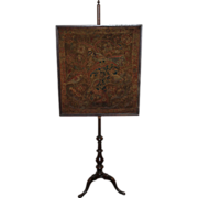 18th c Dutch / American Mahogany Needlework Fire or Pole Screen