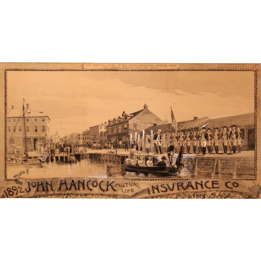 Charles Copeland Watercolor Gouache for John Hancock Mutual Life Insurance Boston MA 1891