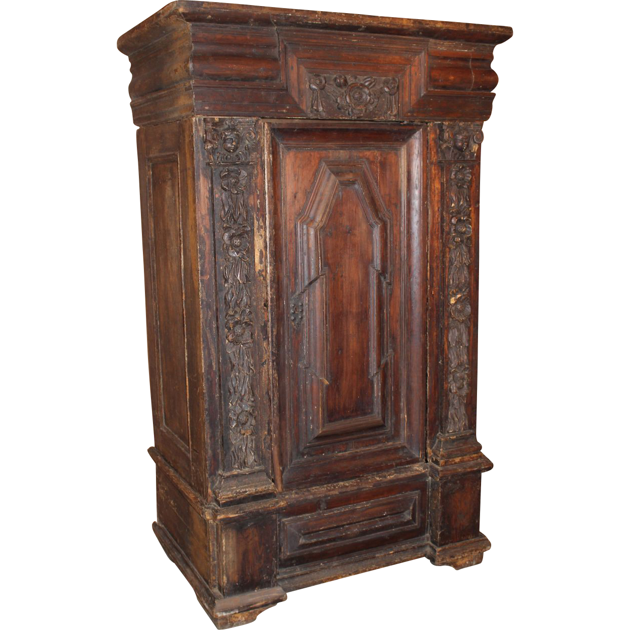 Continental Renaissance Carved Armoire