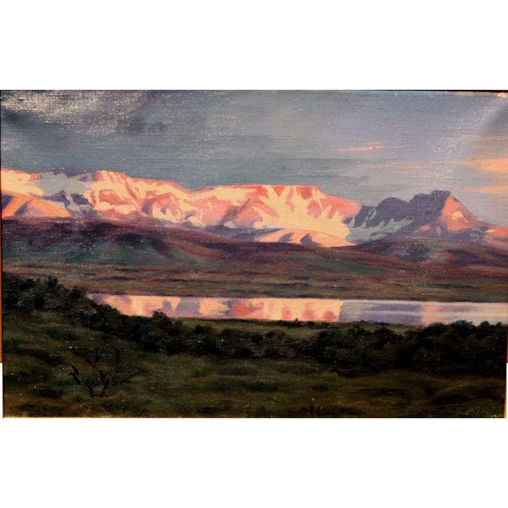 Eyjolfur J. Eyfells Oil Painting Iceland Landscape 1920