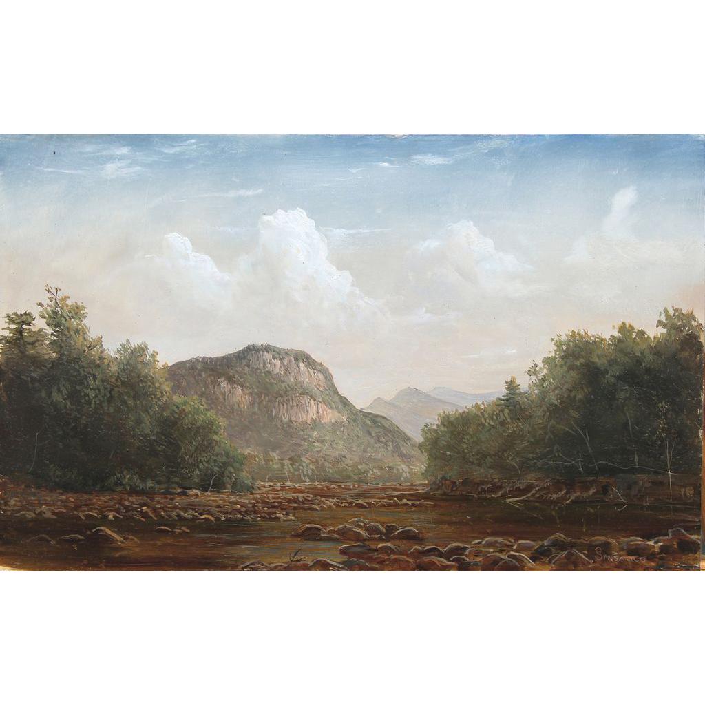 Lauren Sansaricq Oil Painting Frankenstein Cliffs in Crawford Notch NH