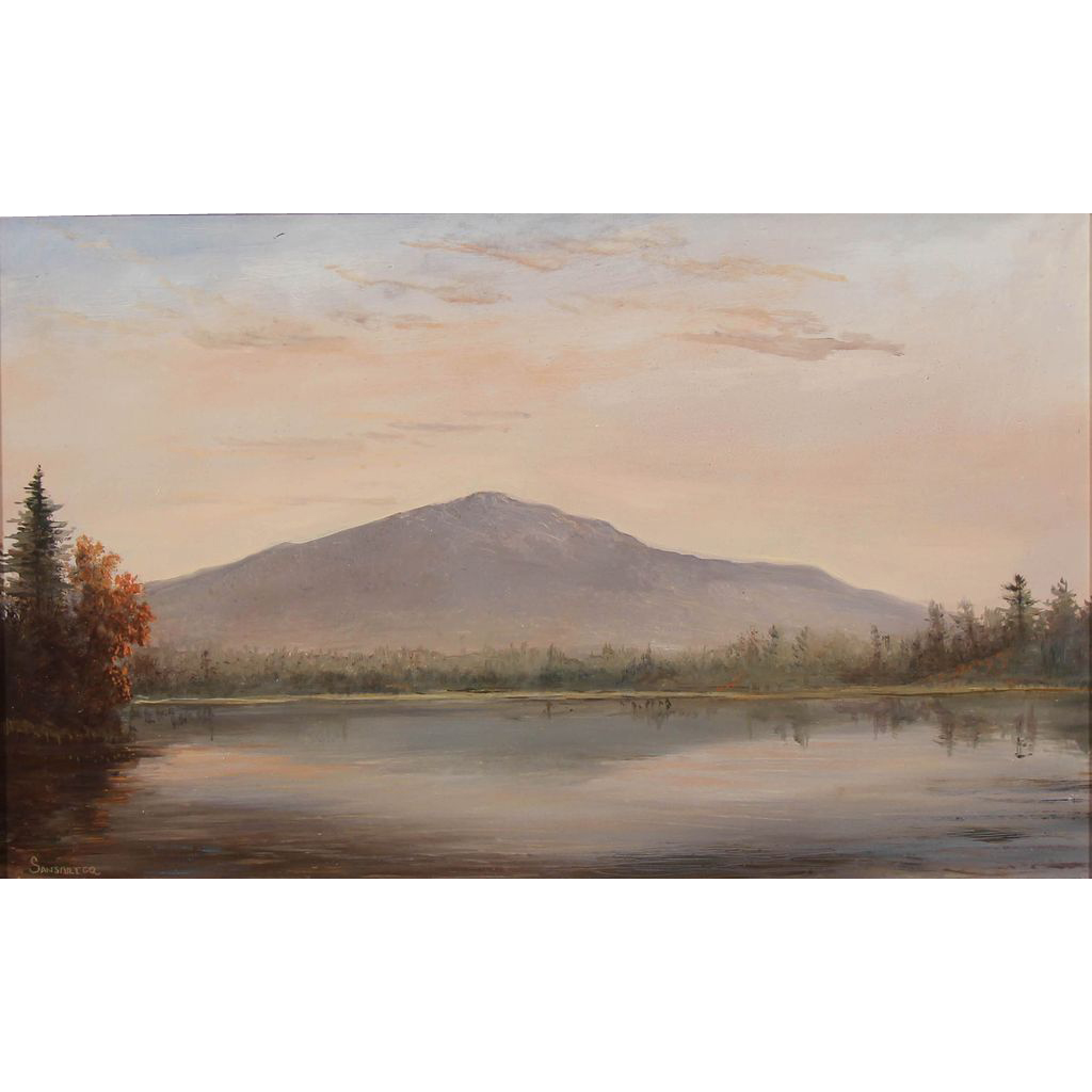 Lauren Sansaricq Oil Painting View of Monadnock Mountain NH