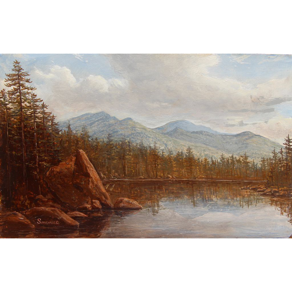 Lauren Sansaricq Oil Painting Lost Pond View of Mount Washington NH