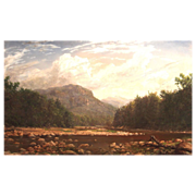 Erik Koeppel Oil Painting Frankenstein Cliffs Crawford Notch NH