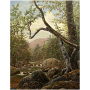 Erik Koeppel White Mountain Oil Painting Sawyer River NH
