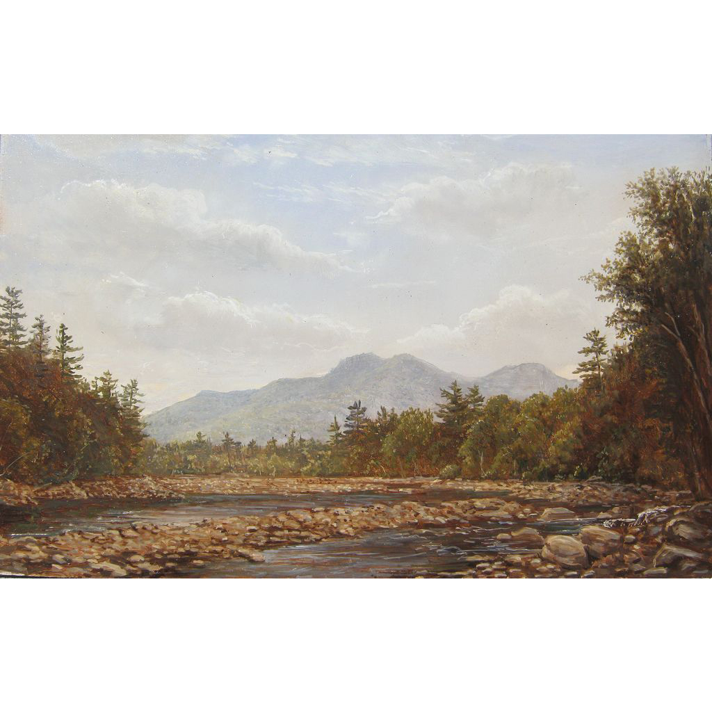 Lauren Sansaricq White Mountains Oil Painting View on the Saco River NH
