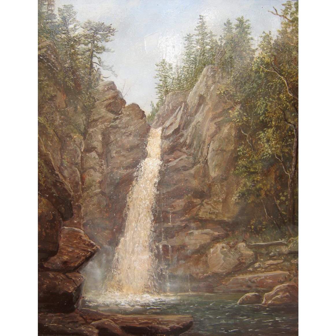 Lauren Sansaricq White Mountains Oil Painting Glen Ellis Falls NH