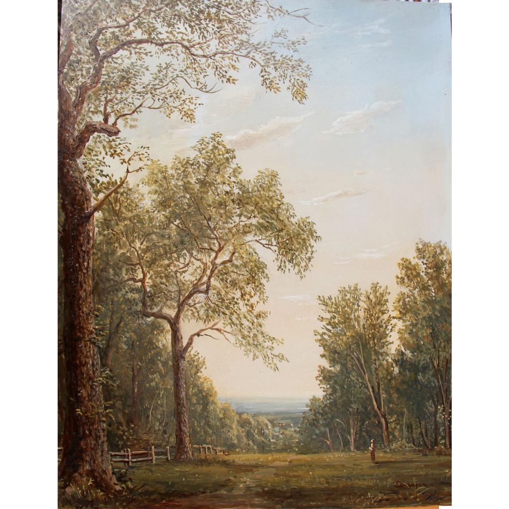 Lauren Sansaricq White Mountain Oil Painting Among the Oaks