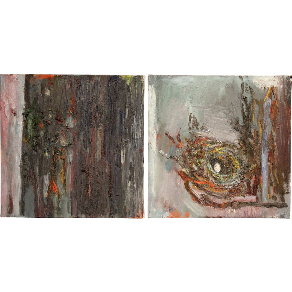 Maxine Yalovitz-Blankenship Pair of Abstract Expressionist Oil Paintings