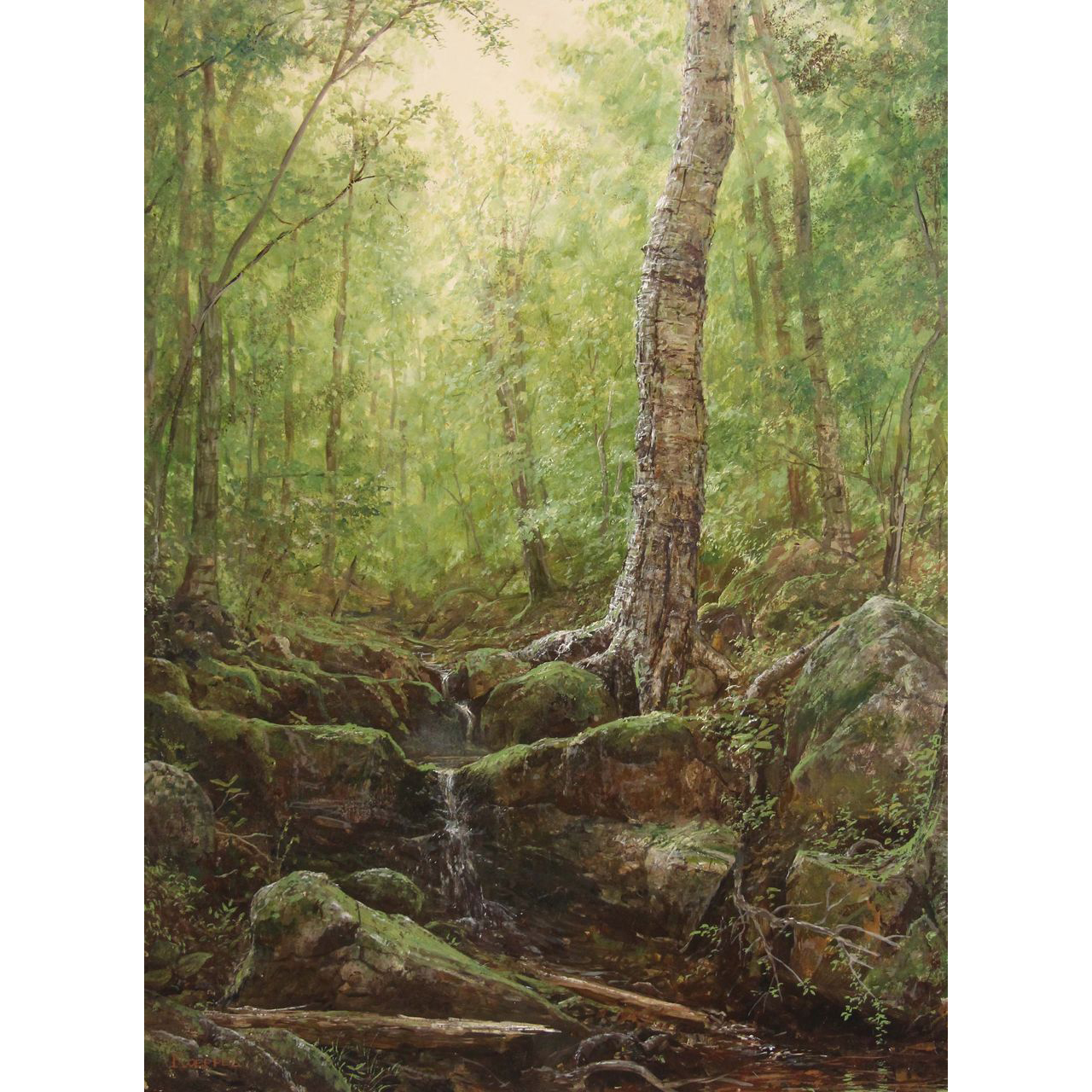 Erik Koeppel White Mountain Oil Painting Rocky Branch Pinkham Notch NH
