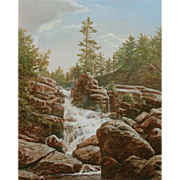 Erik Koeppel White Mountain Oil Painting Goodrich Falls Jackson NH