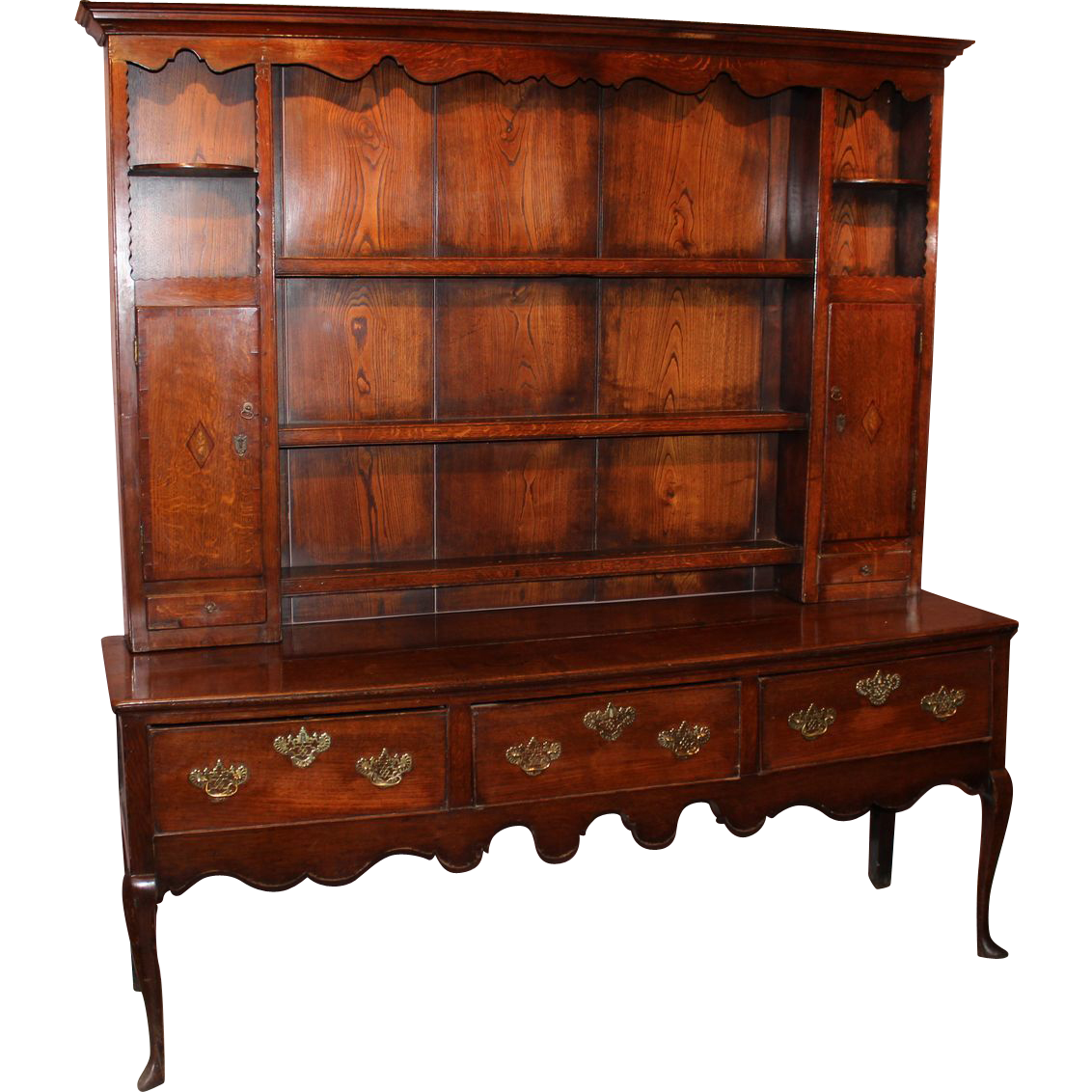 18th c English Oak Dresser and Top