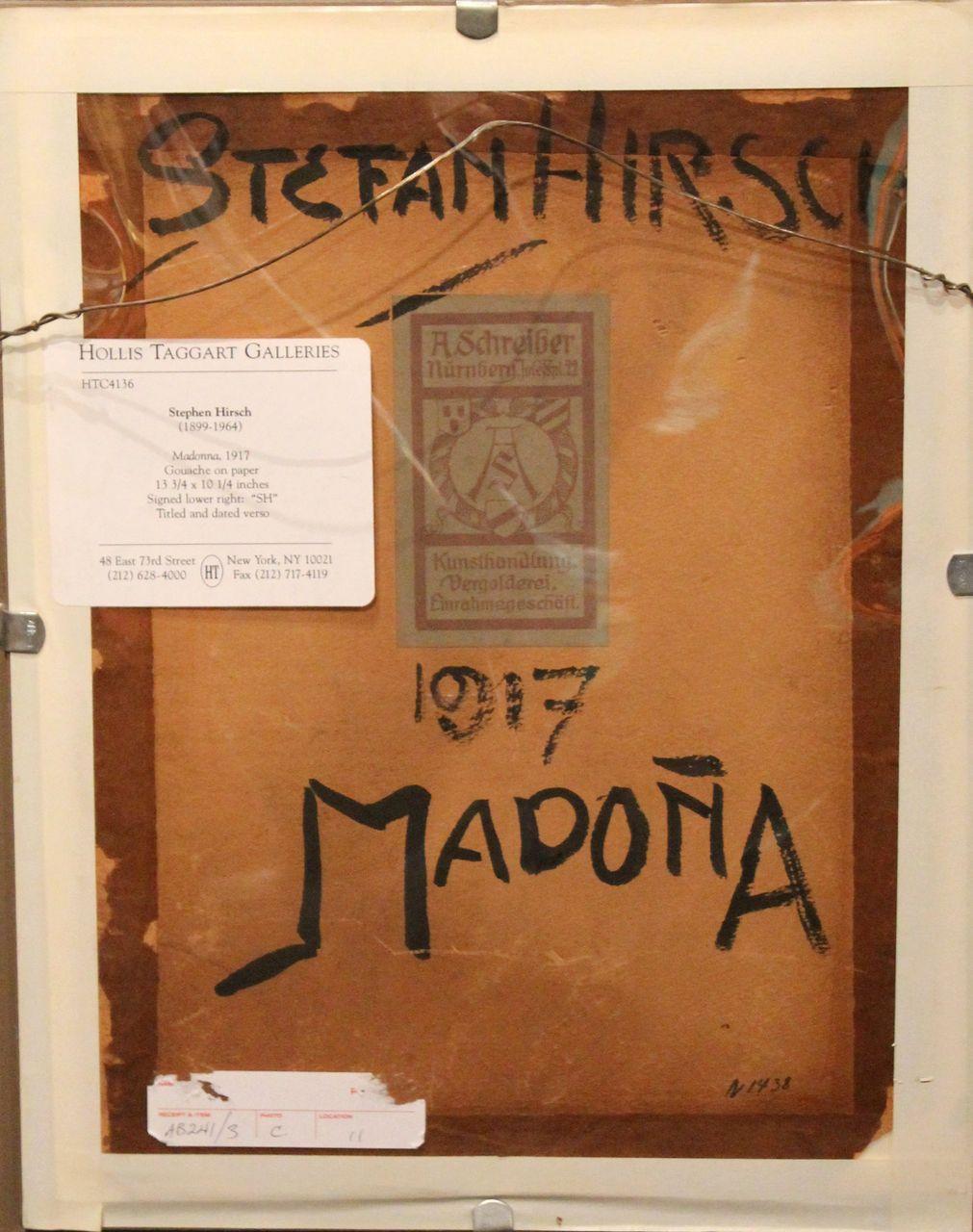 Stefan Hirsch stefan hirsch pair of gouache paintings gottheit and madona 1917 from nhantiquecoop on ruby