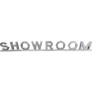 Mid Century Stainless Steel Showroom Advertising Sign
