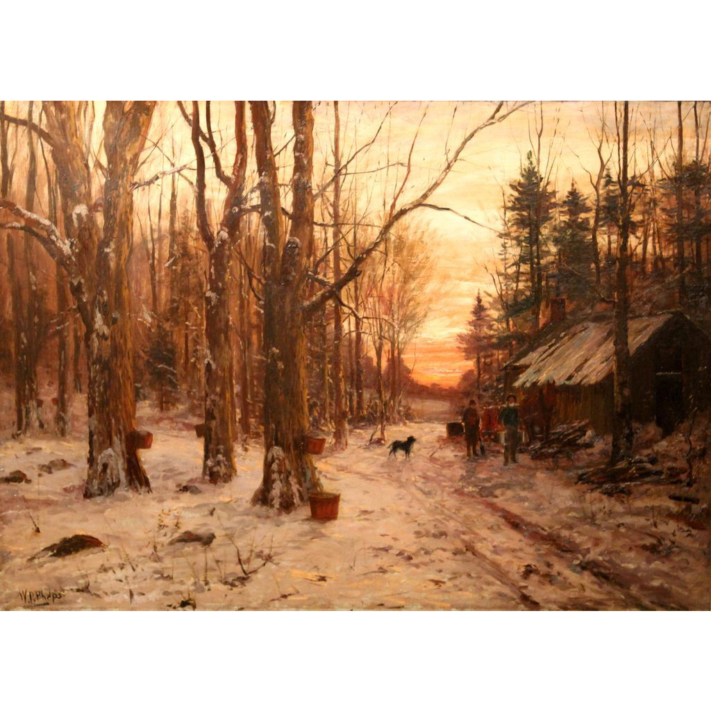 William Preston Phelps Oil Painting Sugar Camp January