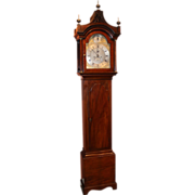 John Wood, Grantham, England Late 18th Century Mahogany Tall Case Clock