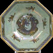 Wedgwood Dragon Lustre Octagonal Bowl circa 1920's
