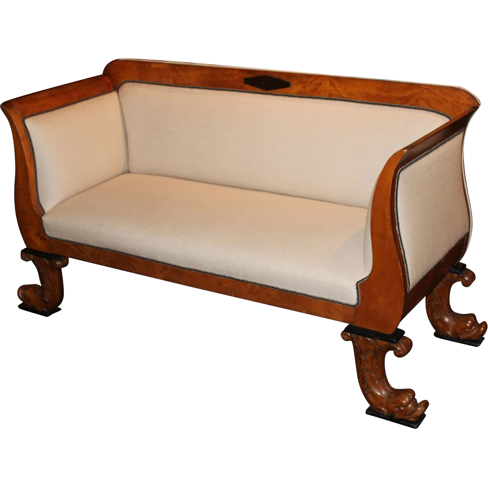 19th century biedermeier settee or sofa from nhantiquecoop on ruby lane Biedermeier sofa