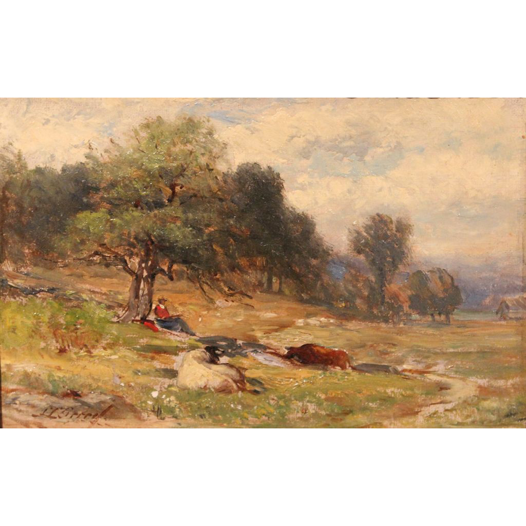 Samuel Lancaster Gerry Oil Painting Artist Beneath a Tree