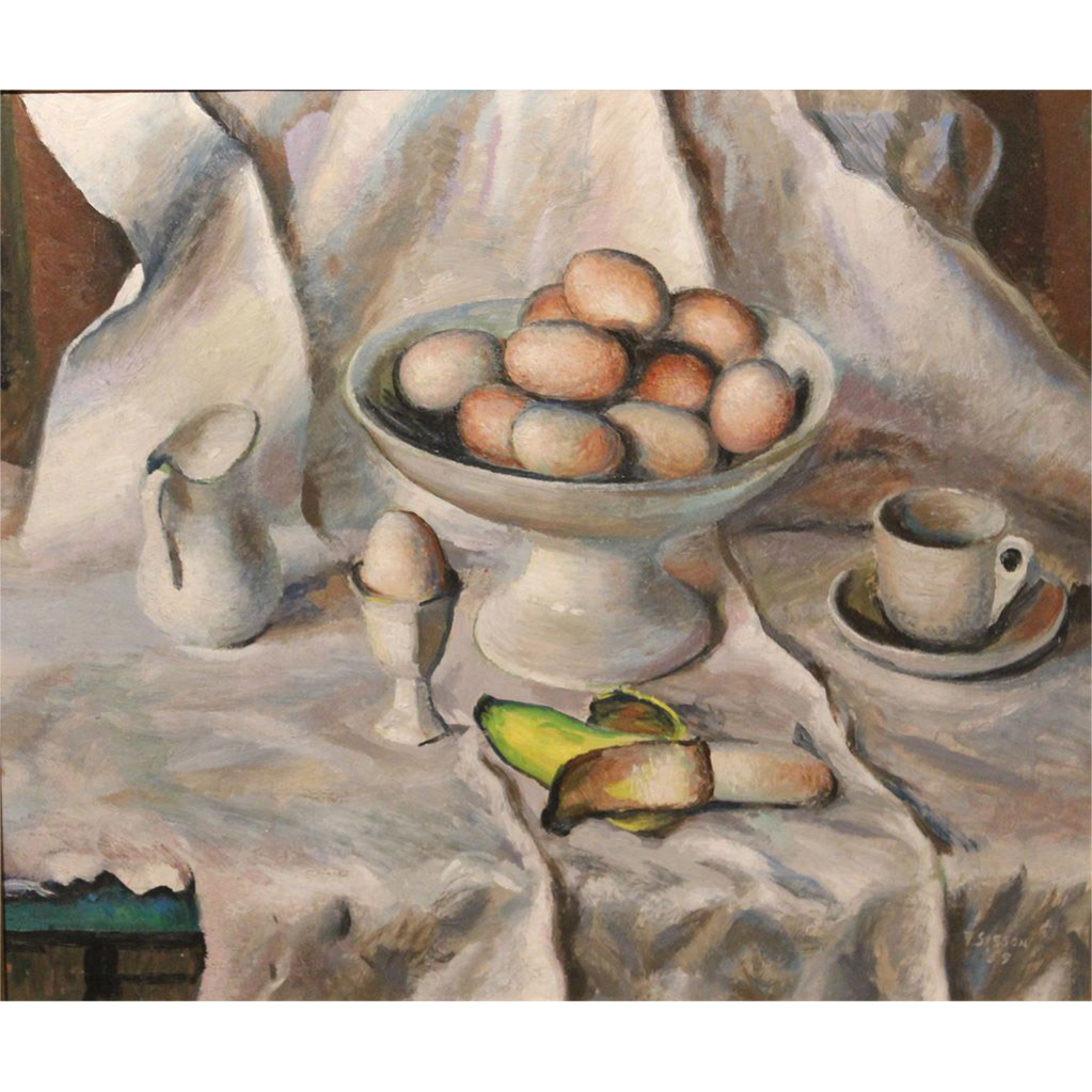 Frederick Rhodes Sisson Oil Painting Still Life At The