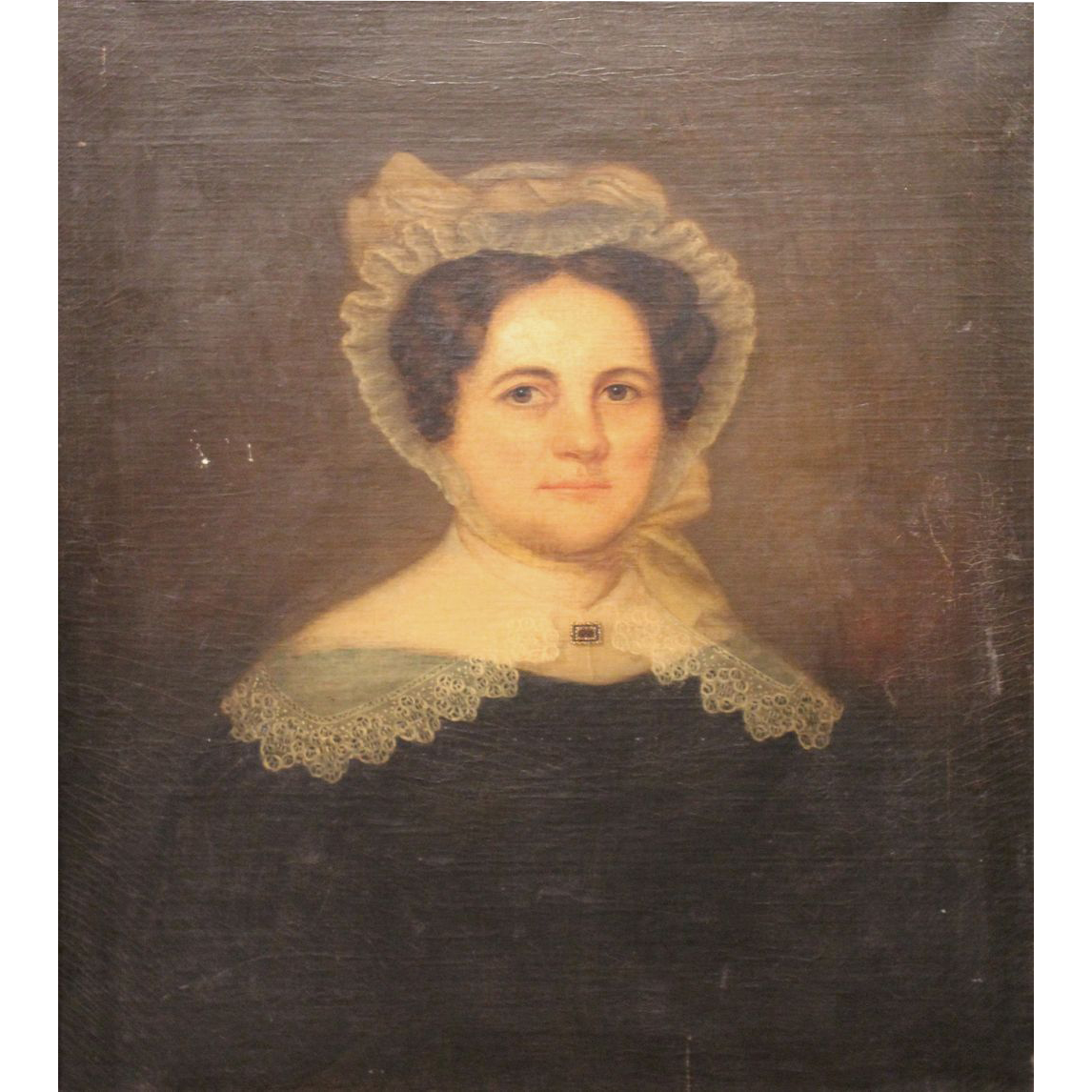 19th c Portrait of a Woman Elizabeth Averell