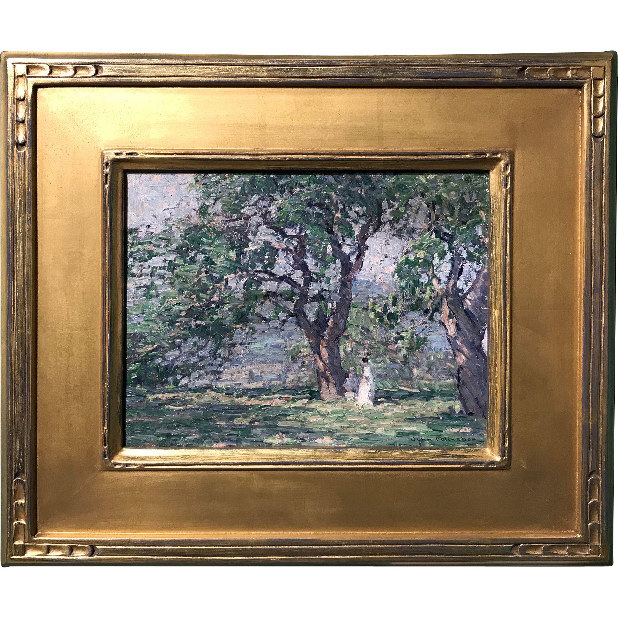 John Fulton Folinsbee Oil Painting - In the Orchard