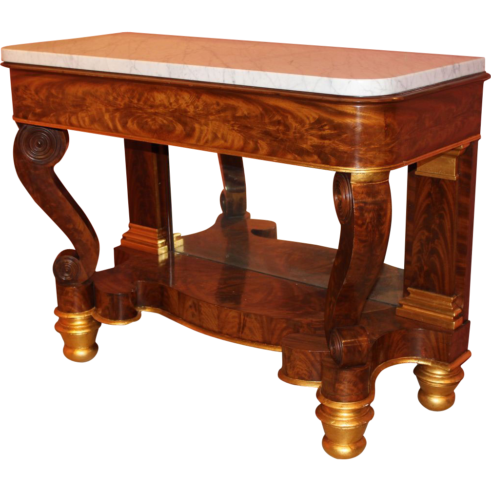 Classical Empire Pier Table Philadelphia circa 1825