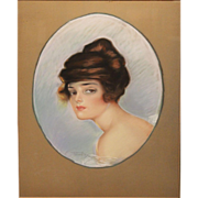 Frederic Stanley Pastel Portrait of a Woman 1915