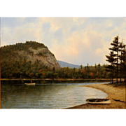 William R. Davis Oil Painting Landscape Echo Lake, Conway Valley, NH