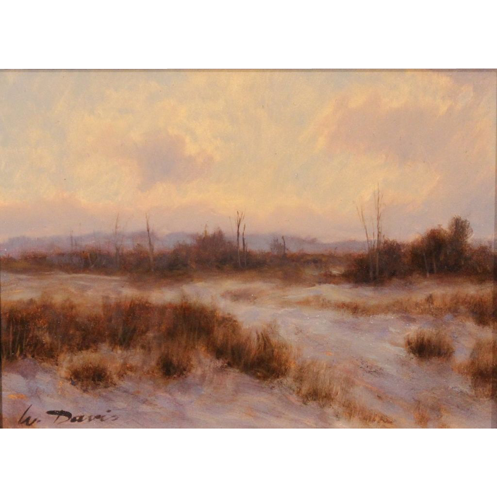 William R. Davis Oil Painting Landscape January Colors