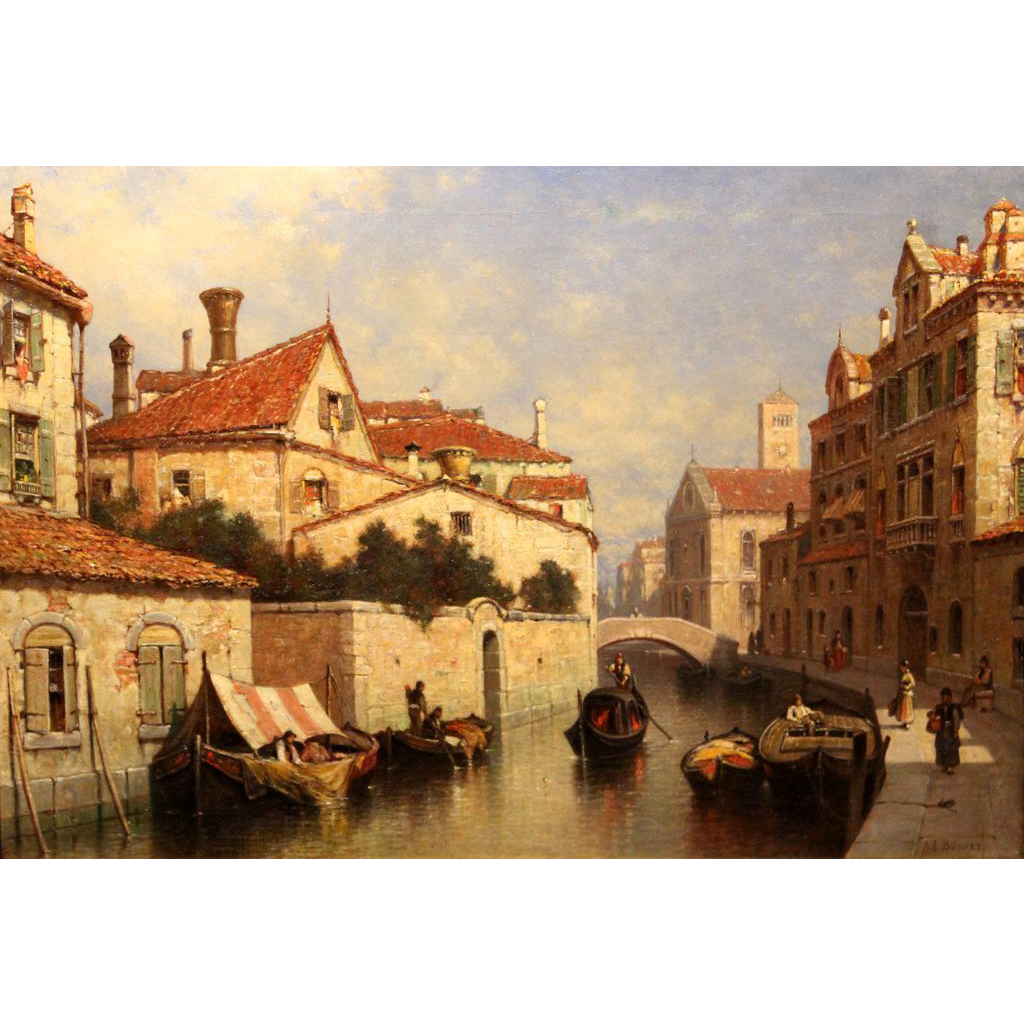Andrew Fisher Bunner Oil Painting Venetian View