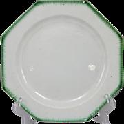 E 19th c English Leeds Feather Edge Octagonal Creamware Plate