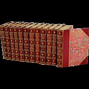 Ralph Waldo Emerson's Works 12 Volume Leather Bound Book Set, Riverside Press 1899