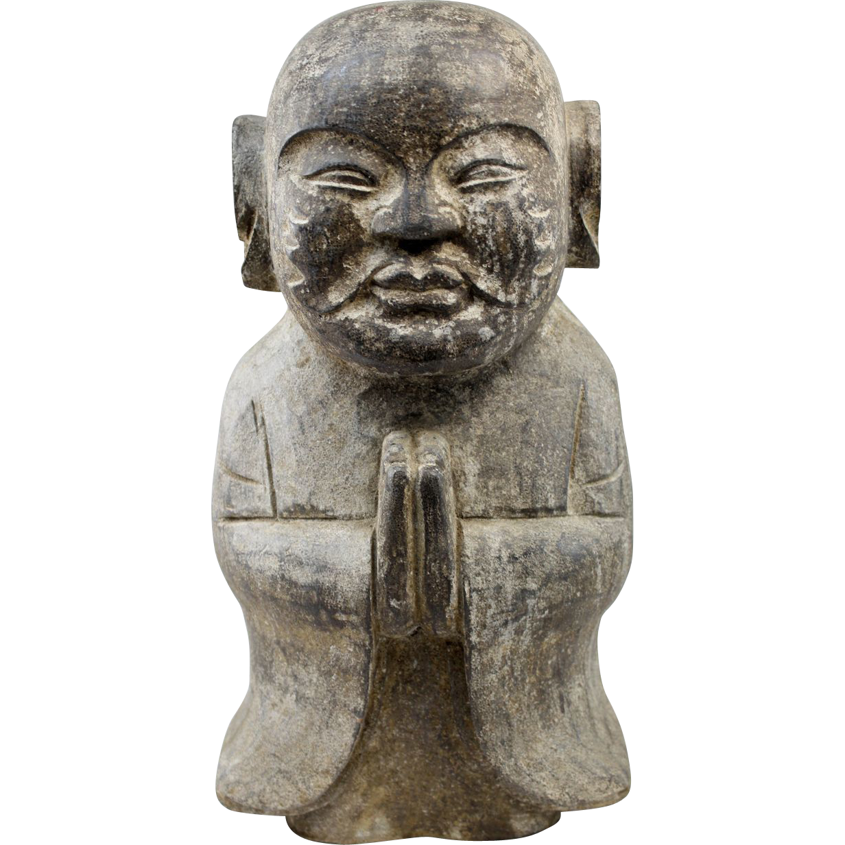 19th c Asian Stone Carved Figure of Buddha