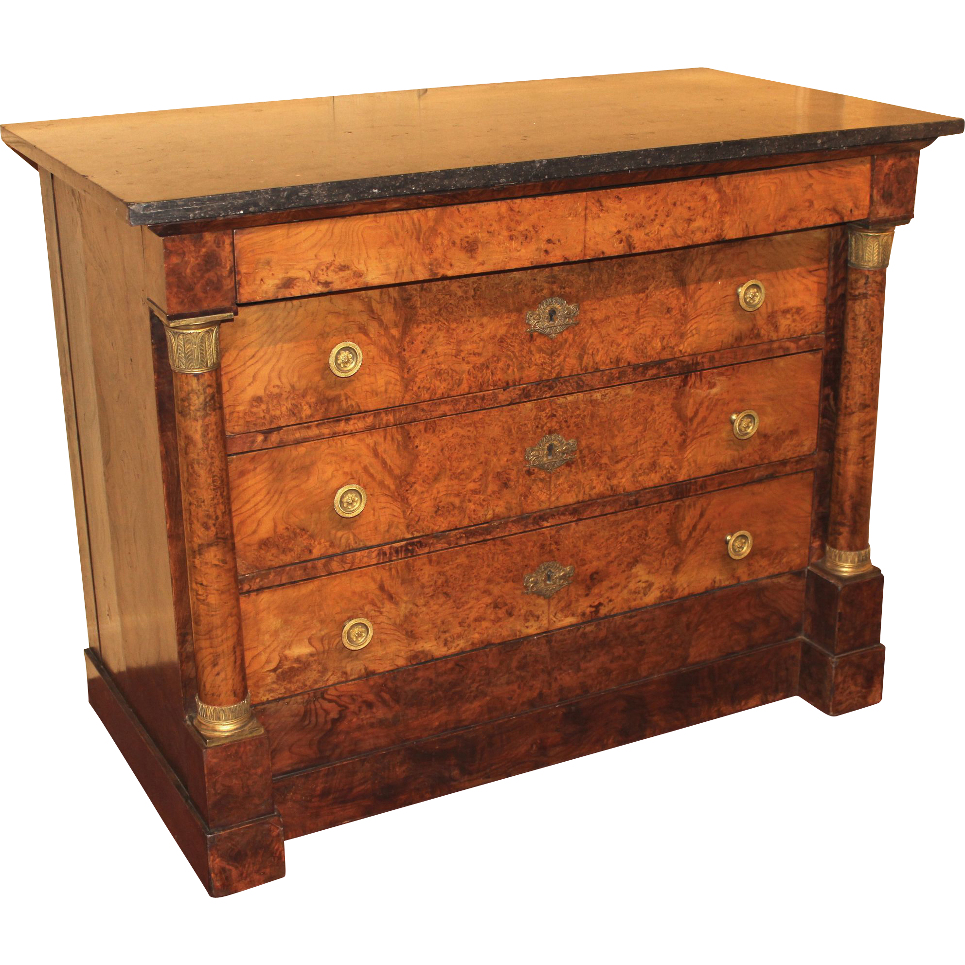 antiques item marble top chest drawers c