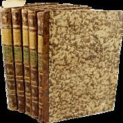Rare Books, 1796  Italian Edition in Quarto Opera of Andrea Palladio, illustrated by Scamozzi, 5 Vols.