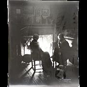 Charles Henry Sawyer Rare Signed Black & White Photograph - Pilgrim Mothers