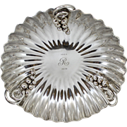 Sterling Silver Cartier Scalloped Footed Presentation Bowl circa 1950's