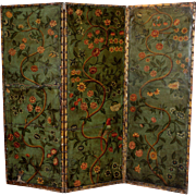 Continental Polychromed Dressing Screen