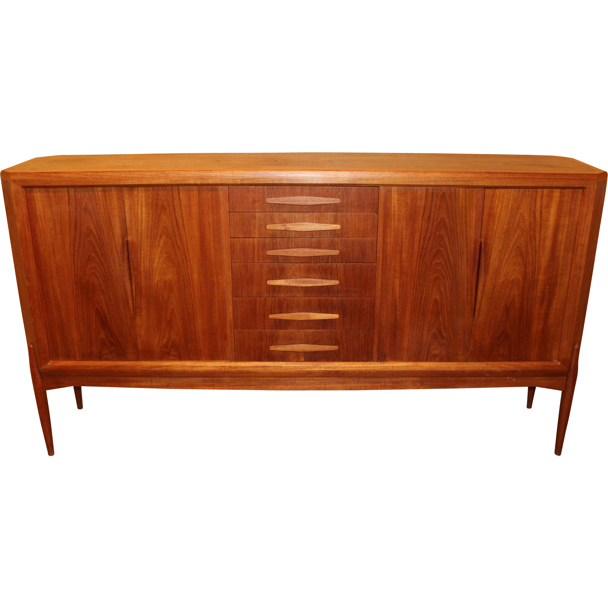 Danish Sideboard or Highboy Designed by Johannes Andersen, circa 1950s