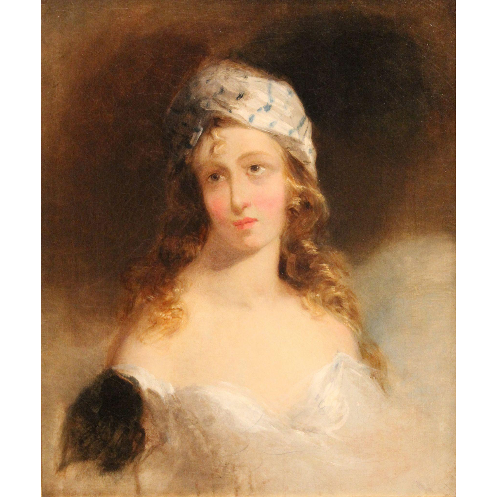 Thomas Sully Oil Painting Portrait of Fanny Kimball circa 1830's
