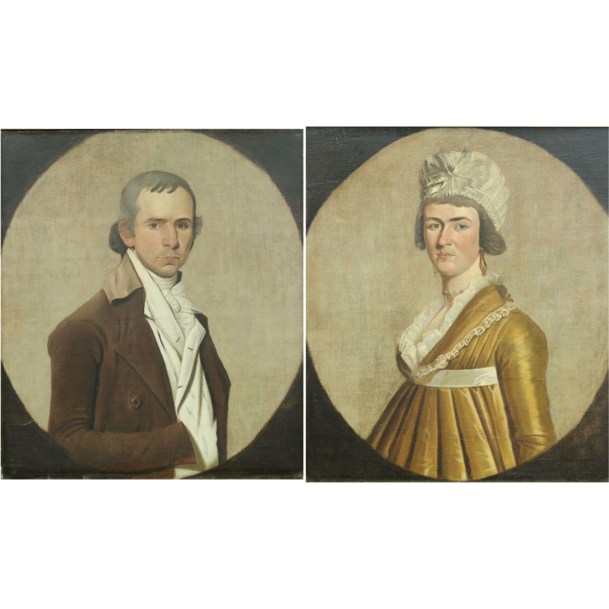 William Jennys Oil Painting Portraits of a Gentleman and Lady circa 1790