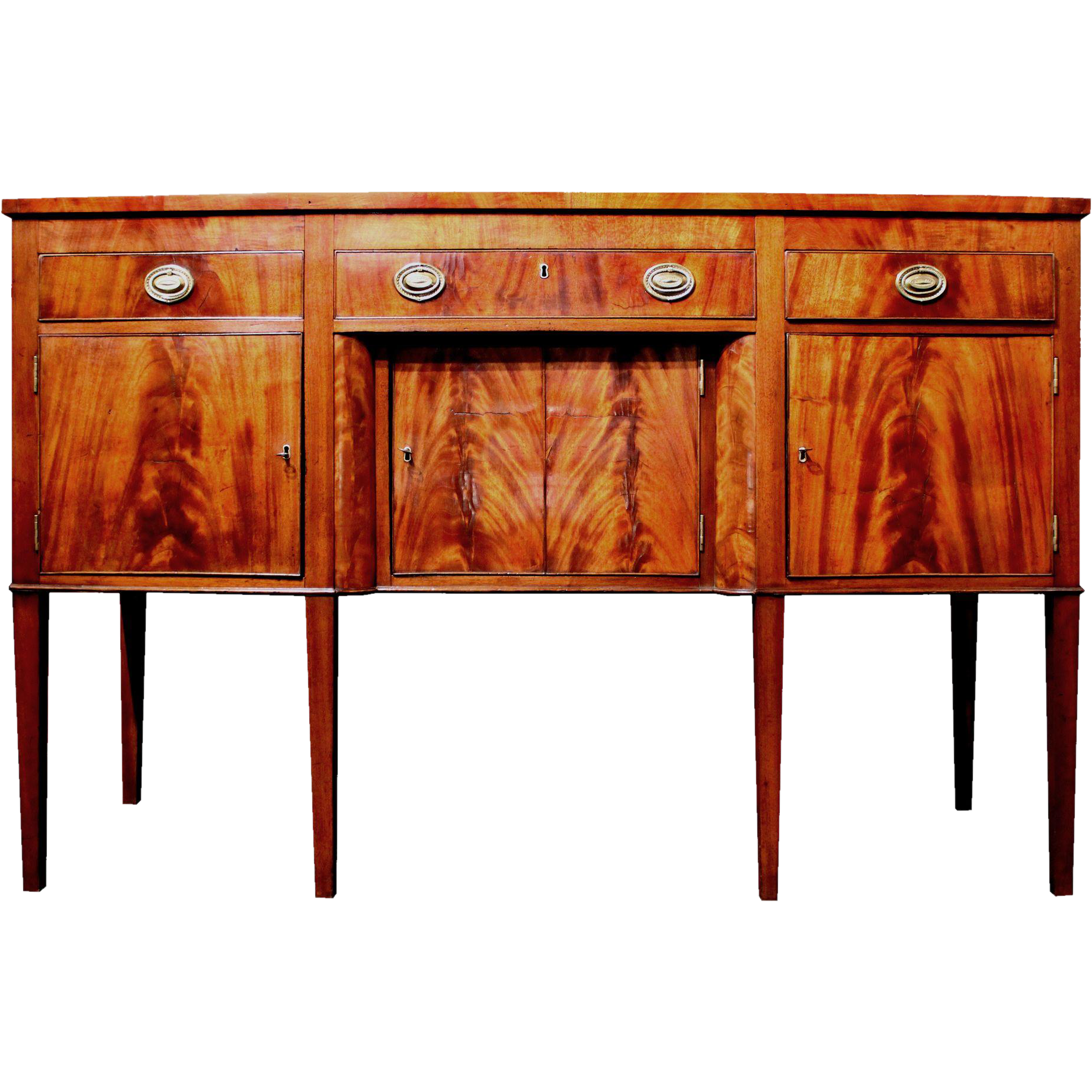 Hepplewhite Mahogany Sideboard by Andrew Anderson, New York circa ...