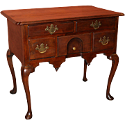 18th Century Massachusetts Queen Anne Lowboy or Dressing Table