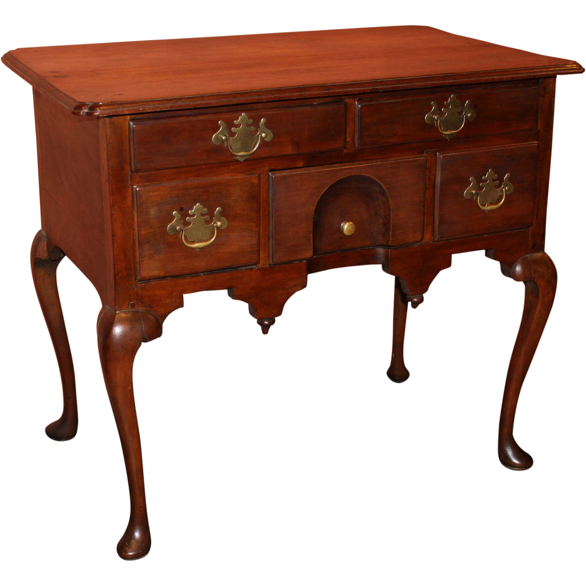 18th century massachusetts queen anne lowboy or dressing for Dressing table long
