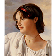 Mary Phillips Figurative Oil Painting of a Girl - Turn Again To Life