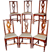 Set of Six Cherry Side Chairs Hartford CT circa 1770-1790