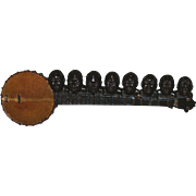 Mid 20th Century Composite Folk Art Banjo in the Style of Augusta Savage