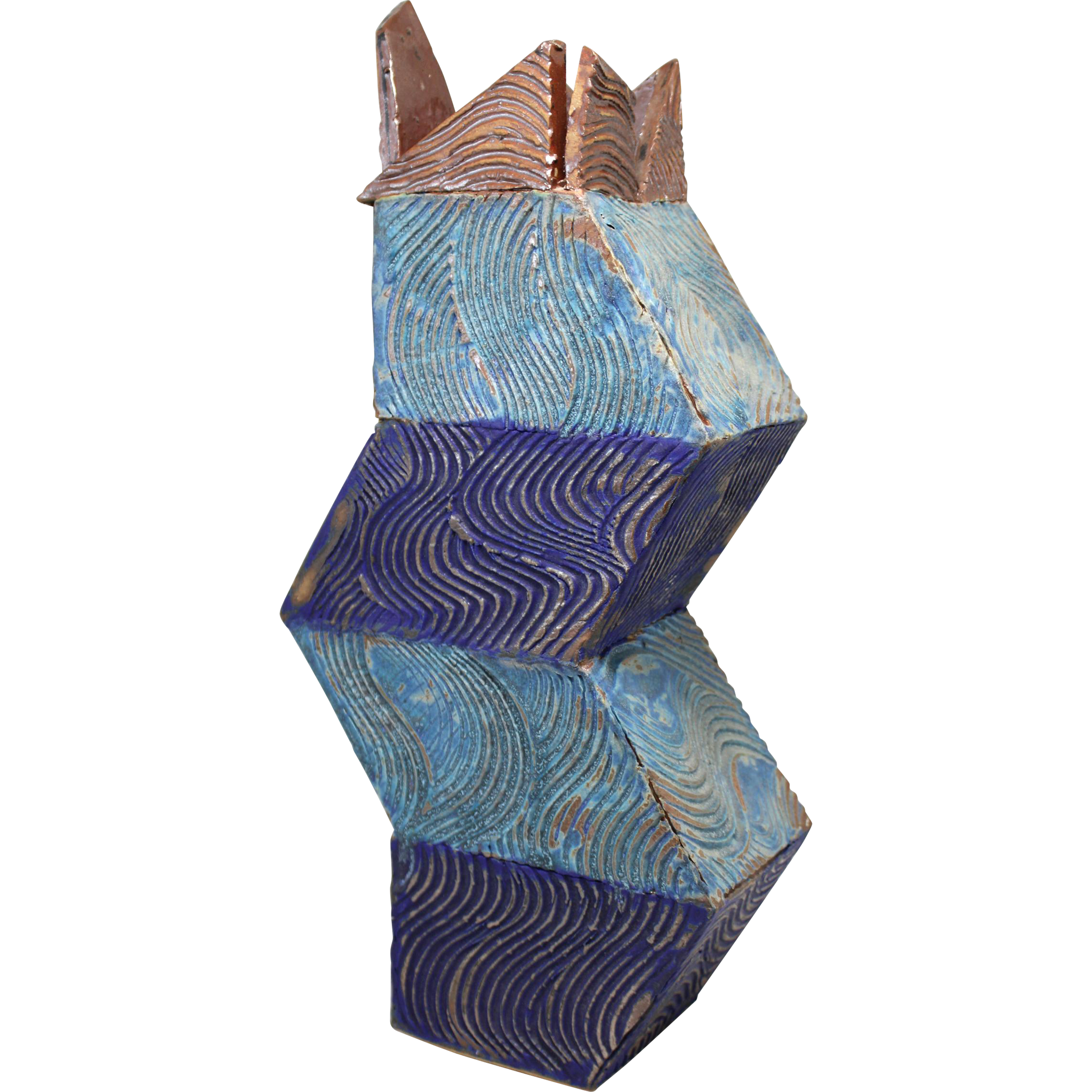 Gerry Williams Abstract Polychrome Art Pottery Vase